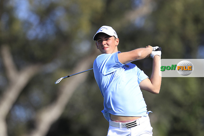 Oliver Guillberg (SWE) during the final round of the European Nations Cup, Real Club de Golf Sotogrande, Paseo del Parque, 11310 Sotogrande, C&aacute;diz  01/04/2017.<br /> Picture: Golffile | Fran Caffrey<br /> <br /> <br /> All photo usage must carry mandatory copyright credit (&copy; Golffile | Fran Caffrey)