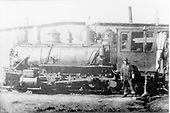 Fireman's-side view of Deadwood Central #5 at Englewood, SD.  This 20,800 lb. tractive-effort engine was built by Baldwin in 1896 at a cost of $10,000.<br /> CB&amp;Q / Deadwood Central  Englewood, SD