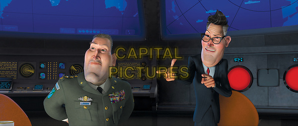 KIEFER SUTHERLAND (General W.R. Monger) & STEPHEN COLBERT (President Hathaway).in Monsters vs. Aliens.*Filmstill - Editorial Use Only*.CAP/FB.Supplied by Capital Pictures.