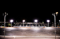 Demolition Derby at the Orange Show Raceway, San Bernardino, Southern California, California, United States, North America. October 2008, ©Stephen Blake Farrington