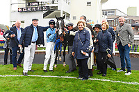 Connections of Ascension in the Winner's enclosure after winning The British EBF Molson Coors Novice Stakes Div 1 during Horse Racing at Salisbury Racecourse on 14th August 2019