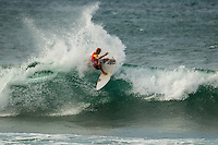 HONOLULU - (Thursday, November 15, 2012) Nathan Hedge (AUS). -- The REEF Hawaiian Pro at Haleiwa Ali'i Beach Park - the first jewel of the $1million Vans Triple Crown of Surfing was ready for an 8am start this morning but was put on hold till 12.30 pm because of small surf conditions.  As the surf increased during the afternoon the first 12 heats of the Round of 128 were completed with Mason Ho (HAW) scoring the 'wave of the day' on the last wave of the last heat. Ho scored a double barrel to easily win his heat.  Photo: joliphotos.com