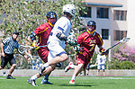 Los Angeles, CA 04/01/16 - Coleman Lee (USC #12) and Daniel Lammers (USC #7) in action during the University of Southern California and Loyola Marymount University SLC conference game  USC defeated LMU.