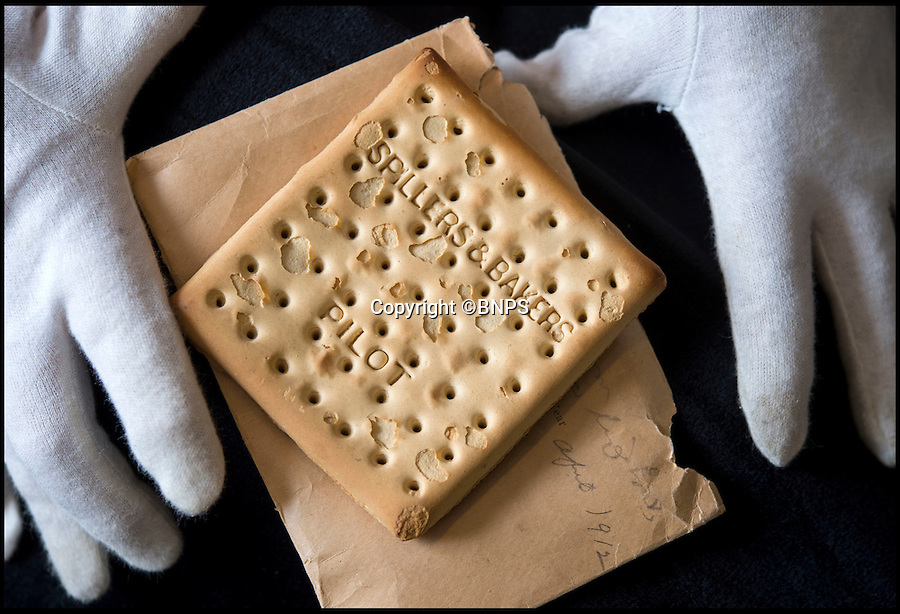BNPS.co.uk (01202 558833)<br /> Pic: PhilYeomans/BNPS<br /> <br /> Crumbs...Hard Tack biscuit that survived the Titanic sinking for sale.<br /> <br /> A Spillers&Bakers Pilot biscuit that survived the Titanic disaster intact 103 years ago has now surfaced for sale for £10,000.<br /> <br /> The truly unique item was claimed as a bizarre memento by a couple from one of the lifeboats picked up by the vessel the Carpathia hours after the <br /> <br /> Honeymooners George and Mabel Fenwick took the biscuit after witnessing, documenting and photographing the grief-stricken survivors of the disaster.
