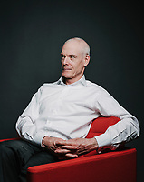 Author Jim Collins at his office in Boulder, Colorado, Thursday, February 7, 2019. Collins writes on the subject of company sustainability and growth. Books written by Collins include: Built to Last, Good to Great, and Great by Choice.<br /> <br /> Photo by Matt Nager