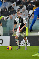 1st December 2019; Allianz Stadium, Turin, Italy; Serie A Football, Juventus versus Sassuolo; Miralem Pjanic of Juventus on the ball - Editorial Use