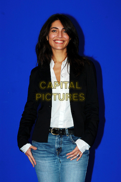 CATERINA MURINO.Photo session at the Rome Film Festival, Rome, Italy..October 20th, 2006.Ref: CAV.half length black jacket .www.capitalpictures.com.sales@capitalpictures.com.©Luca Cavallari/Capital Pictures.