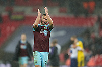 Burnley's Phillip Bardsley applauds the fans at the end of the game<br /> <br /> Photographer Rob Newell/CameraSport<br /> <br /> The Premier League - Tottenham Hotspur v Burnley - Saturday 15th December 2018 - Wembley Stadium - London<br /> <br /> World Copyright &copy; 2018 CameraSport. All rights reserved. 43 Linden Ave. Countesthorpe. Leicester. England. LE8 5PG - Tel: +44 (0) 116 277 4147 - admin@camerasport.com - www.camerasport.com