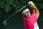 Kiradech Aphibarnrat of Thailand tees off during the 58th UBS Hong Kong Golf Open as part of the European Tour on 09 December 2016, at the Hong Kong Golf Club, Fanling, Hong Kong, China. Photo by Marcio Rodrigo Machado / Power Sport Images
