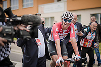 Mathieu Van Der Poel (NED/Correndon-Circus) wins the 59th De Brabantse Pijl - La Flèche Brabançonne 2019 (1.HC)<br /> <br /> One day race from Leuven to Overijse (BEL/196km)<br /> <br /> ©kramon