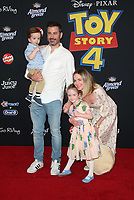 "11 June 2019 - Hollywood, California - Jimmy Kimmel, William Kimmel, Jane Kimmel, Molly McNearney. Premiere Of Disney And Pixar's ""Toy Story 4""  held at El Capitan theatre. Photo Credit: Faye Sadou/AdMedia"