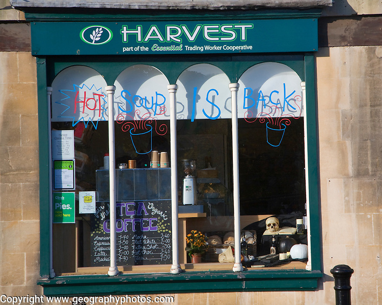 Harvest wholefood co-operative shop, Walcot Street, Bath, Somerset, England
