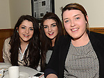 Lauren and Sarah Scott and Michelle Breen pictured at St mary's GFC Ardee awards night. Photo:Colin Bell/pressphotos.ie