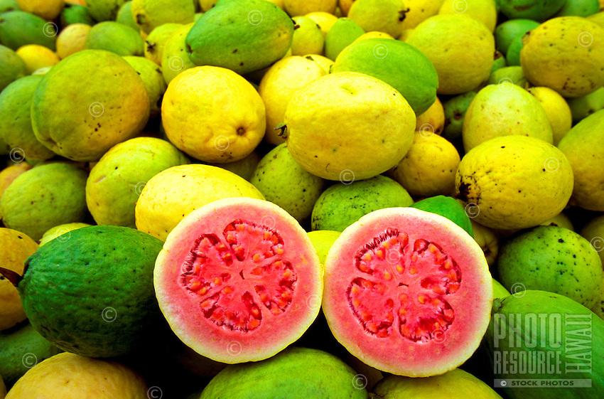Colorful guavas from Kilauea Agronomics, Inc. on the Island of Kauai