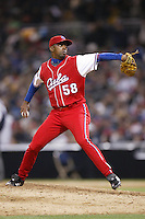 Jonder Perez of the Cuban national team during championship game against Japan during the World Baseball Championships at Petco Park in San Diego,California on March 20, 2006. Photo by Larry Goren/Four Seam Images