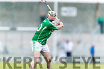 Kilmoyley in action against Padraig Boyle Ballyduff in the County Senior Hurling Final at Austin Stack Park on Sunday.