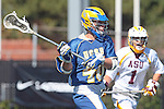 Orange, CA 05/01/10 - CJ Jacobs (UCSB # 40) in action during the UC Santa Barbara-Arizona State MCLA SLC semi-final game in Wilson Field at Chapman University.  Arizona State advanced to the final by defeating UC Santa Barbara 13-9.