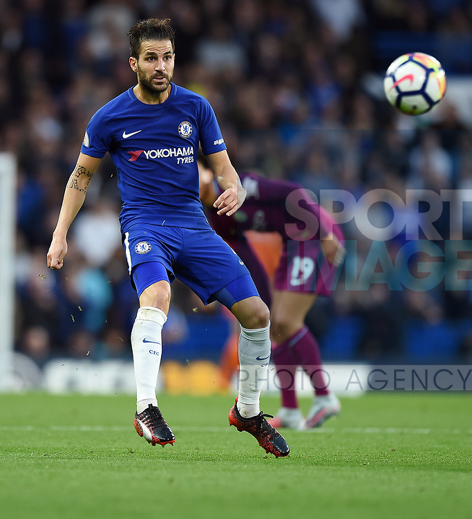 Cesc Fabregas of Chelsea during the premier league match at the Stamford Bridge stadium, London. Picture date 30th September 2017. Picture credit should read: Robin Parker/Sportimage