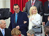 United States Secretary of the Treasury-designate Steven T. Mnuchin and his fiancee Louise Linton arrive for the swearing-in ceremony as Donald J. Trump is sworn-in as the 45th President of the United States on the West Front of the US Capitol on Friday, January 20, 2017.<br /> Credit: Ron Sachs / CNP<br /> (RESTRICTION: NO New York or New Jersey Newspapers or newspapers within a 75 mile radius of New York City)