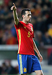 Spain's Sergio Busquets during FIFA World Cup 2018 Qualifying Round match. March 24,2017.(ALTERPHOTOS/Acero)