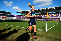 Orlando, FL - Saturday October 14, 2017: McCall Zerboni during the NWSL Championship match between the North Carolina Courage and the Portland Thorns FC at Orlando City Stadium.