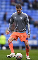 25th January 2020; Madejski Stadium, Reading, Berkshire, England; English FA Cup Football, Reading versus Cardiff City; Will Vaulks of Cardiff City warms up