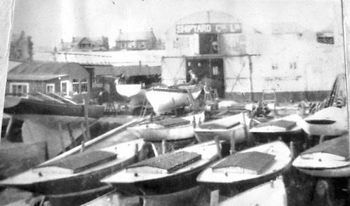 Lovett's Shipyard showing Rivers in winter storage