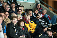 Thursday 24 October 2013  <br /> Pictured: Swansea City Fans<br /> Re:UEFA Europa League, Swansea City FC vs Kuban Krasnodar,  at the Liberty Staduim Swansea