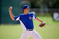 Gunnar Hoglund (14) while playing for Central Florida Gators based out of Altamonte Springs, Florida during the WWBA World Championship at the Roger Dean Complex on October 19, 2017 in Jupiter, Florida.  Gunnar Hoglund is a pitcher / third baseman from Hudson, Florida who attends Dayspring Christian Academy.  (Mike Janes/Four Seam Images)