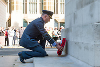 Picture by Allan McKenzie/SWpix.com - 25/08/2017 - Rugby League - Commemorative wreath laying ceremony - The Cenotaph, London, England - RFL president Air Commodore Dean Andrew lays a wreath at the Cenotaph.
