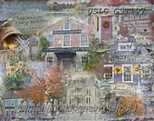 MODERN, MODERNO, paintings+++++GST_small town big family low res,USLGGST197,#N#, EVERYDAY ,collages,puzzle,puzzles ,photos ,Graffitees