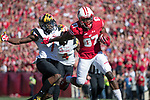 Wisconsin Badgers wide receiver Quintez Cephus (87) gains yardage after a reception during an NCAA Big Ten Conference football game against the Maryland Terrapins Saturday, October 21, 2017, in Madison, Wis. The Badgers won 38-13. (Photo by David Stluka)