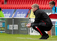 Doncaster Rovers manager Grant McCann cuts a frustrated figure<br /> <br /> Photographer David Shipman/CameraSport<br /> <br /> The EFL Sky Bet League One - Doncaster Rovers v Fleetwood Town - Saturday 6th October 2018 - Keepmoat Stadium - Doncaster<br /> <br /> World Copyright &copy; 2018 CameraSport. All rights reserved. 43 Linden Ave. Countesthorpe. Leicester. England. LE8 5PG - Tel: +44 (0) 116 277 4147 - admin@camerasport.com - www.camerasport.com
