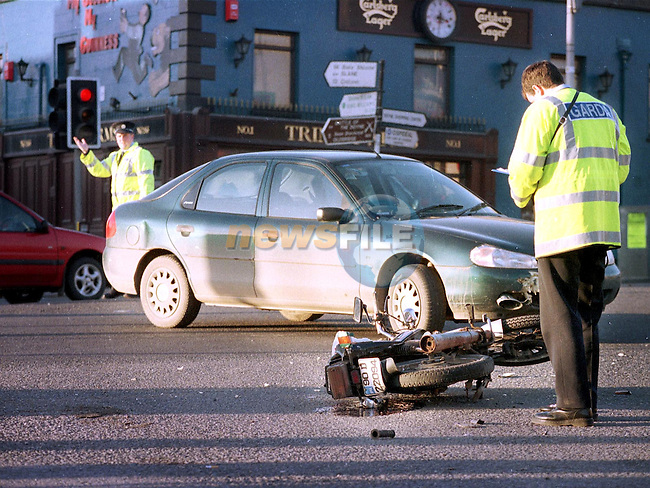 Accident at Narrow West Street on Friday..Picture: Paul Mohan/Newsfile