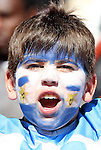 17 JUN 2010:  Argentina youth fan in the stands.  The Argentina National Team played the South Korea National Team at Soccer City Stadium in Johannesburg, South Africa in a 2010 FIFA World Cup Group E match.
