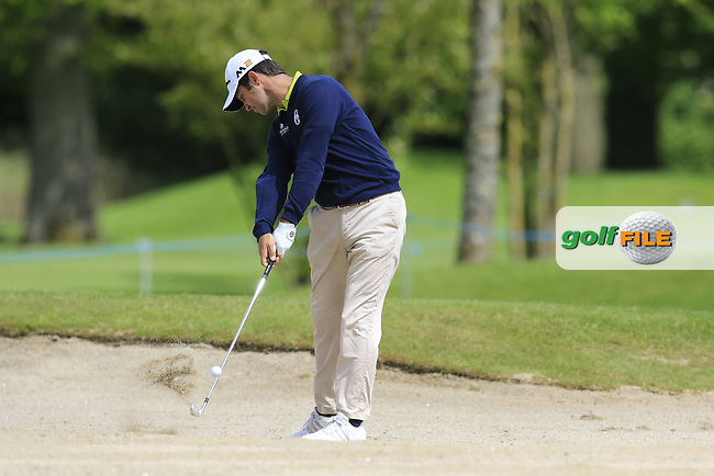 Jorge Campillo (ESP) plays his 2nd shot from a fairway bunker on the 11th hole during Thursday's Round 1 of the 2016 Dubai Duty Free Irish Open hosted by Rory Foundation held at the K Club, Straffan, Co.Kildare, Ireland. 19th May 2016.<br /> Picture: Eoin Clarke | Golffile<br /> <br /> <br /> All photos usage must carry mandatory copyright credit (&copy; Golffile | Eoin Clarke)