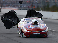 Mar 14, 2015; Gainesville, FL, USA; NHRA pro stock driver Greg Anderson during qualifying for the Gatornationals at Auto Plus Raceway at Gainesville. Mandatory Credit: Mark J. Rebilas-