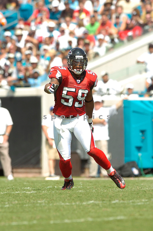 MICHAEL BOLEY, of the Atlanta Falcons, in action during the Falcons game against the Jacksonville Jaguars in Jacksonville, FL on September 16, 2007.  The Jaguars won the game 13-7............