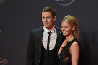 20170208 – LINT ,  BELGIUM : Thorgan Hazard (L) pictured during the  63nd men edition of the Golden Shoe award ceremony and 1st Women's edition, Wednesday 8 February 2017, in Lint AED studio. The Golden Shoe (Gouden Schoen / Soulier d'Or) is an award for the best soccer player of the Belgian Jupiler Pro League championship during the year 2016. The female edition is a first in Belgium.  PHOTO DIRK VUYLSTEKE | Sportpix.be