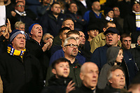 Leeds United fans do their best to enjoy the match at the Hawthorns<br /> <br /> Photographer David Shipman/CameraSport<br /> <br /> The EFL Sky Bet Championship - West Bromwich Albion v Leeds United - Saturday 10th November 2018 - The Hawthorns - West Bromwich<br /> <br /> World Copyright © 2018 CameraSport. All rights reserved. 43 Linden Ave. Countesthorpe. Leicester. England. LE8 5PG - Tel: +44 (0) 116 277 4147 - admin@camerasport.com - www.camerasport.com
