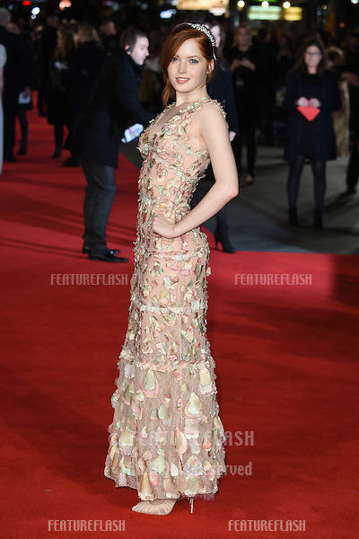 Ellie Bamber at the European premiere for &quot;Pride and Prejudice and Zombies&quot; at the Vue West End, Leicester Square.<br /> February 1, 2016  London, UK<br /> Picture: Steve Vas / Featureflash