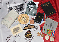 BNPS.co.uk (01202 558833)<br /> Pic: BNPS<br /> <br /> PICTURED: The medals of a war hero who played a key role in the 'Great Escape' are being sold for the first time.<br /> <br /> The RAF pilot was one of those who famously escaped and spent three days on the run with two others before a German farmer they sought help from turned them in.<br /> <br /> F/Lt Broderick was returned to Stalag Luft III and spent three weeks in isolation. <br /> <br /> But his two colleagues - Flying Officer Denys Street and F/O Henry Birkland - were among the 50 escapees executed by the Gestapo on the orders of Adolf Hitler.