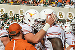 Texas Longhorns quarterback Tyrone Swoopes (18) in action during the game between the Texas Longhorns and the Baylor Bears at the McLane Stadium in Waco, Texas.