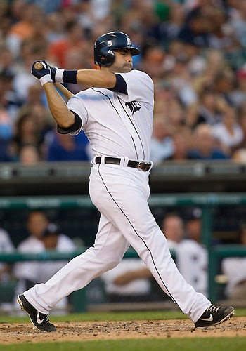 August 07, 2012:  Detroit Tigers catcher Alex Avila (13) at bat during MLB game action between the New York Yankees and the Detroit Tigers at Comerica Park in Detroit, Michigan.  The Tigers defeated the Yankees 6-5.
