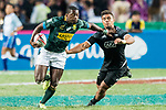 South Africa vs New Zealand during their Bronze Medal Final as part of the HSBC Hong Kong Rugby Sevens 2018 on 08 April 2018, in Hong Kong, Hong Kong. Photo by Chung Yan Man / Power Sport Images