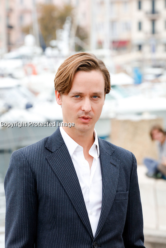 Mipcom Cannes le 17 Octobre 2016 Tom Schilling Photocall The Same Sky