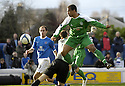 24/02/2007       Copyright Pic: James Stewart.File Name : sct_jspa09_qots_v_hibernian.THOMAS SOWUNMI BEATS KEEPER JAMIE MACDONALD TO THE BALL TO SCORES HIBS SECOND.....James Stewart Photo Agency 19 Carronlea Drive, Falkirk. FK2 8DN      Vat Reg No. 607 6932 25.Office     : +44 (0)1324 570906     .Mobile   : +44 (0)7721 416997.Fax         : +44 (0)1324 570906.E-mail  :  jim@jspa.co.uk.If you require further information then contact Jim Stewart on any of the numbers above.........