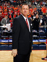 North Carolina State head coach Mark Gottfried during the game against Virginia Saturday in Charlottesville, VA. Virginia defeated NC State 58-55.