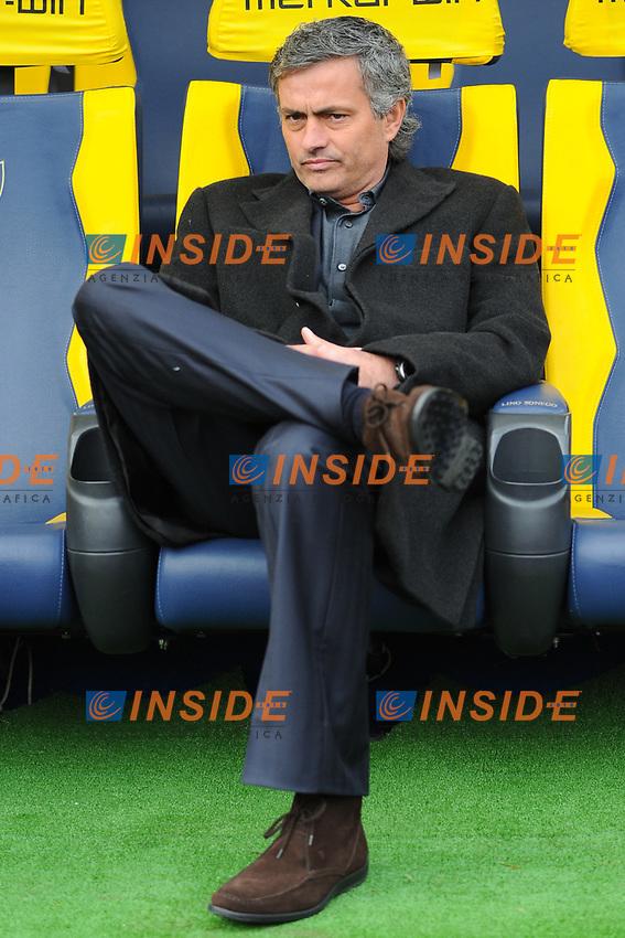 Jose MOURINHO Allenatore Inter<br /> Verona 6/1/2010 Stadio &quot;Bentegodi&quot;<br /> Chievo Verona - Inter 0-1<br /> Campionato Italiano Serie A 2009/2010<br /> Foto Andrea Staccioli Insidefoto