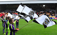 Port Vale mascots wave flags before kick off<br /> <br /> Photographer Andrew Vaughan/CameraSport<br /> <br /> The EFL Sky Bet League Two - Port Vale v Lincoln City - Saturday 13th October 2018 - Vale Park - Burslem<br /> <br /> World Copyright © 2018 CameraSport. All rights reserved. 43 Linden Ave. Countesthorpe. Leicester. England. LE8 5PG - Tel: +44 (0) 116 277 4147 - admin@camerasport.com - www.camerasport.com